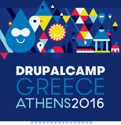 DrupalCamp Greece Athens 2016 logo